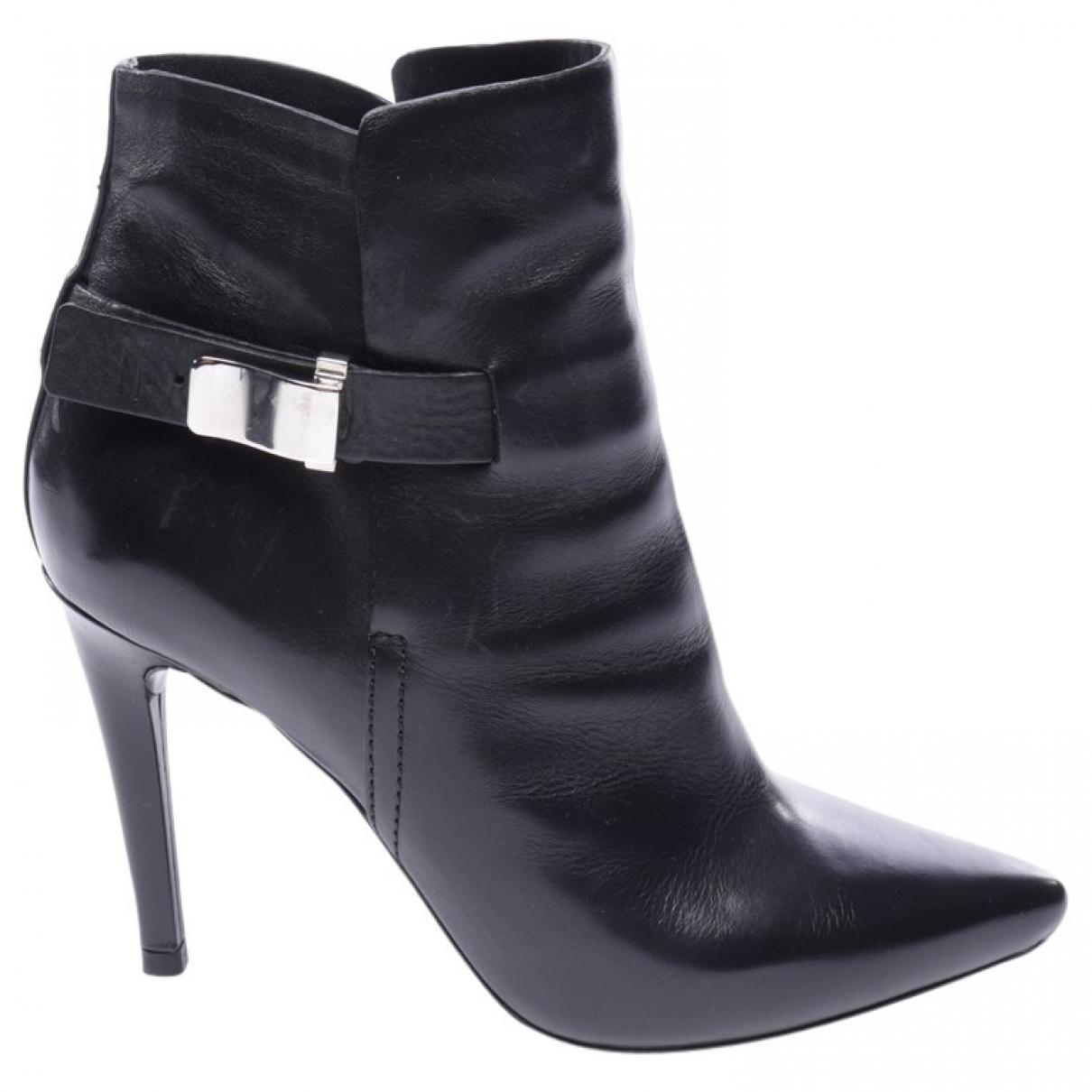 Proenza Schouler \N Stiefeletten in  Schwarz Leder