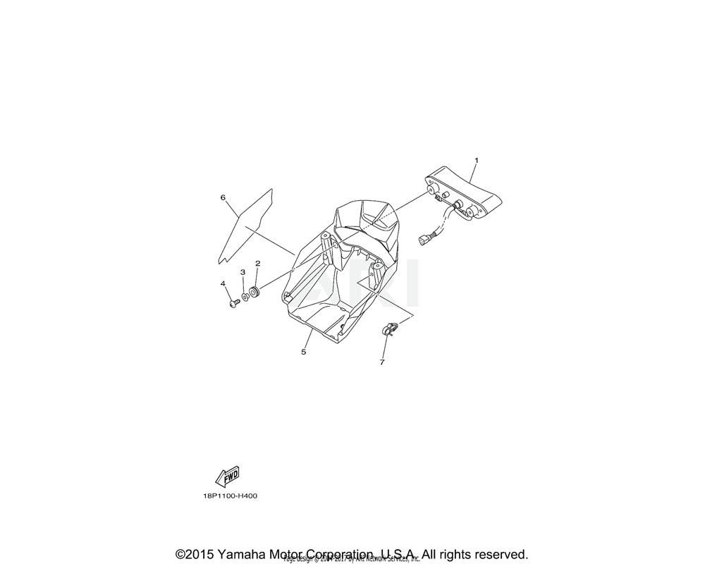 Yamaha OEM 18P-8411K-00-00 PLATE, INSULATOR