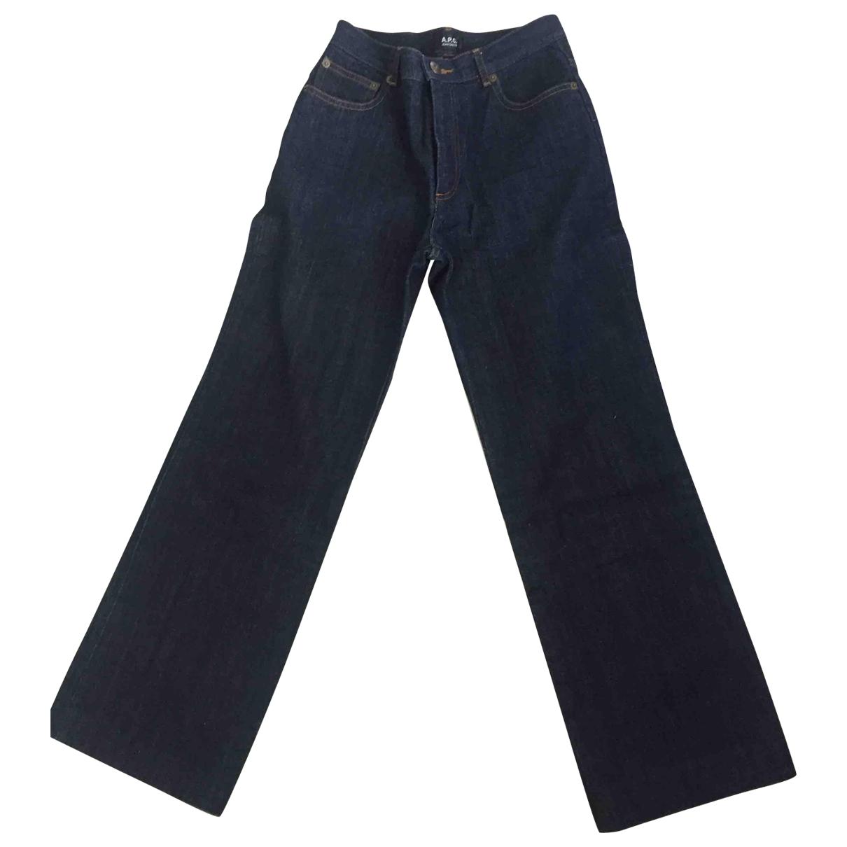 Apc Jean Sailor Blue Cotton Jeans for Women 25 US