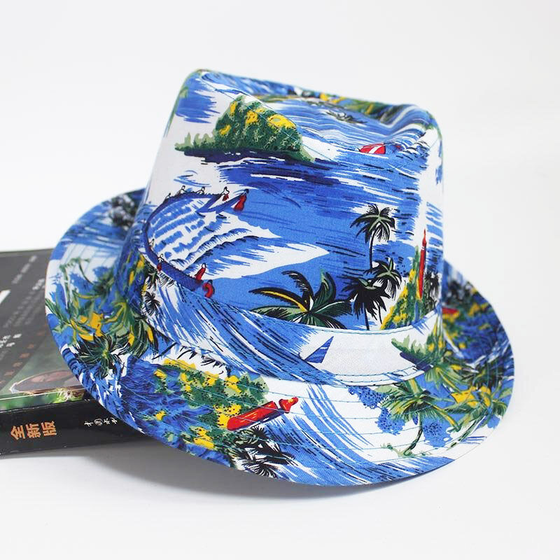 Beach Pattern ClothBucket Hat Men's Seaside Vacation Sunshade Casual Hat