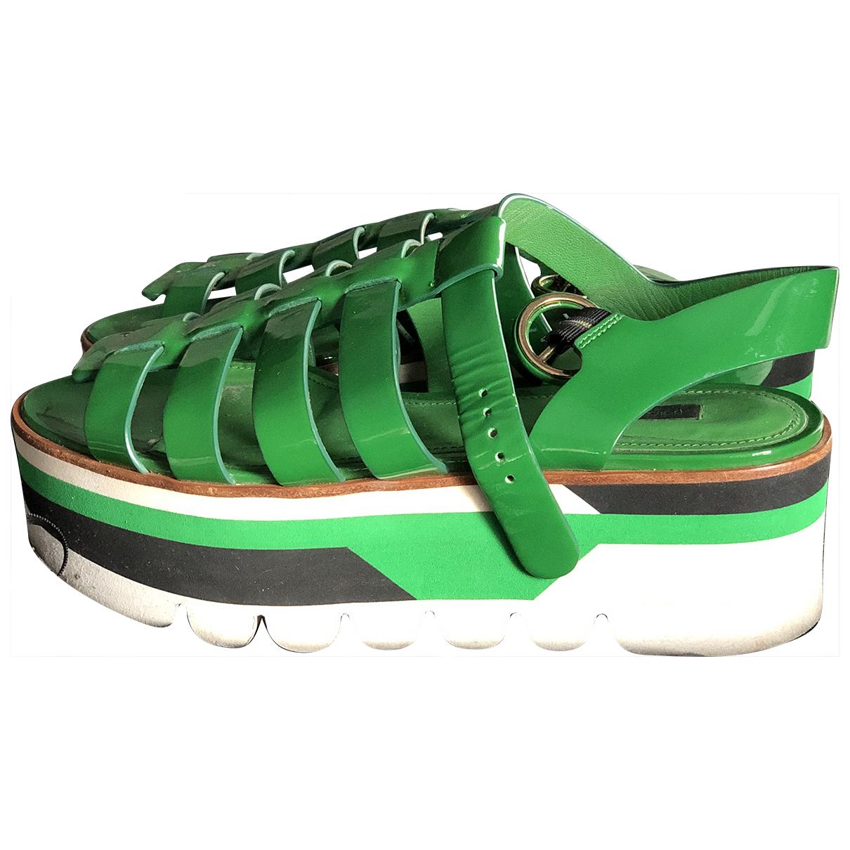 Dolce & Gabbana - Sandales   pour femme en cuir - vert