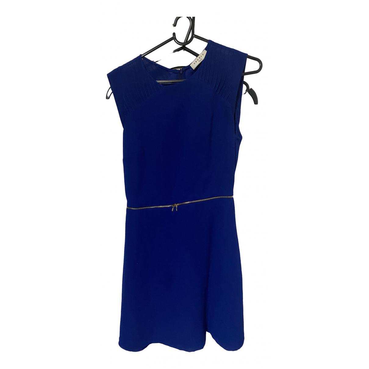 Sandro \N Blue Silk dress for Women 8 UK