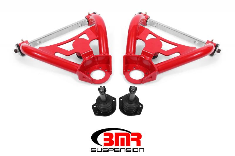 BMR Suspension AA028R Delrin Bushings A-arms Upper Pro-touring Tall Ball Joint Red Buick Grand Sport | Skylark | Chevy El Camino |  Chevelle | Malibu