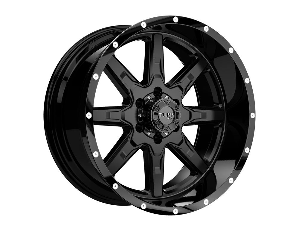 TUFF T15 Wheel 22x10 5x139.70|5x5.5 5mm Satin Black w/ Gloss Black Lip