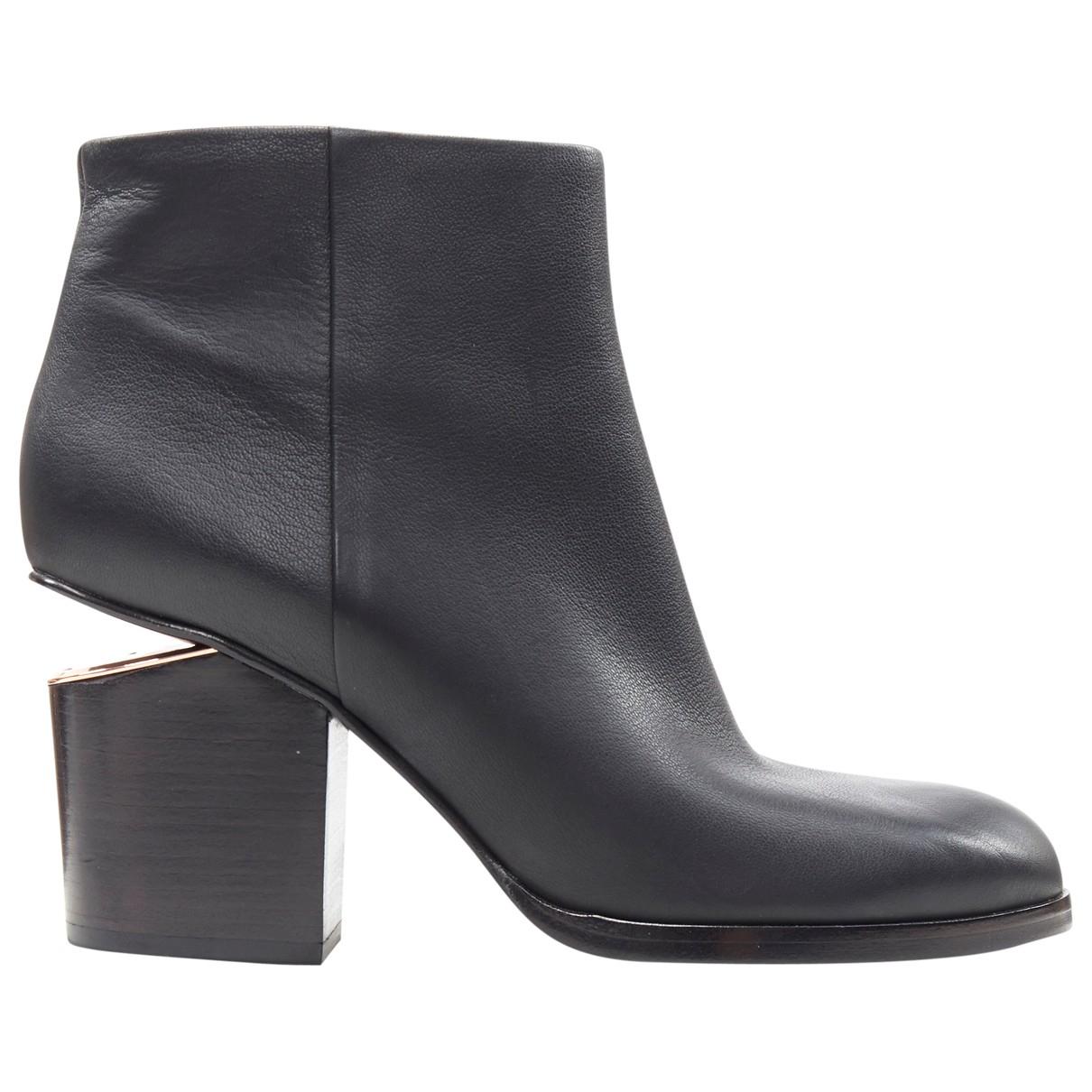 Alexander Wang - Boots   pour femme en cuir - noir