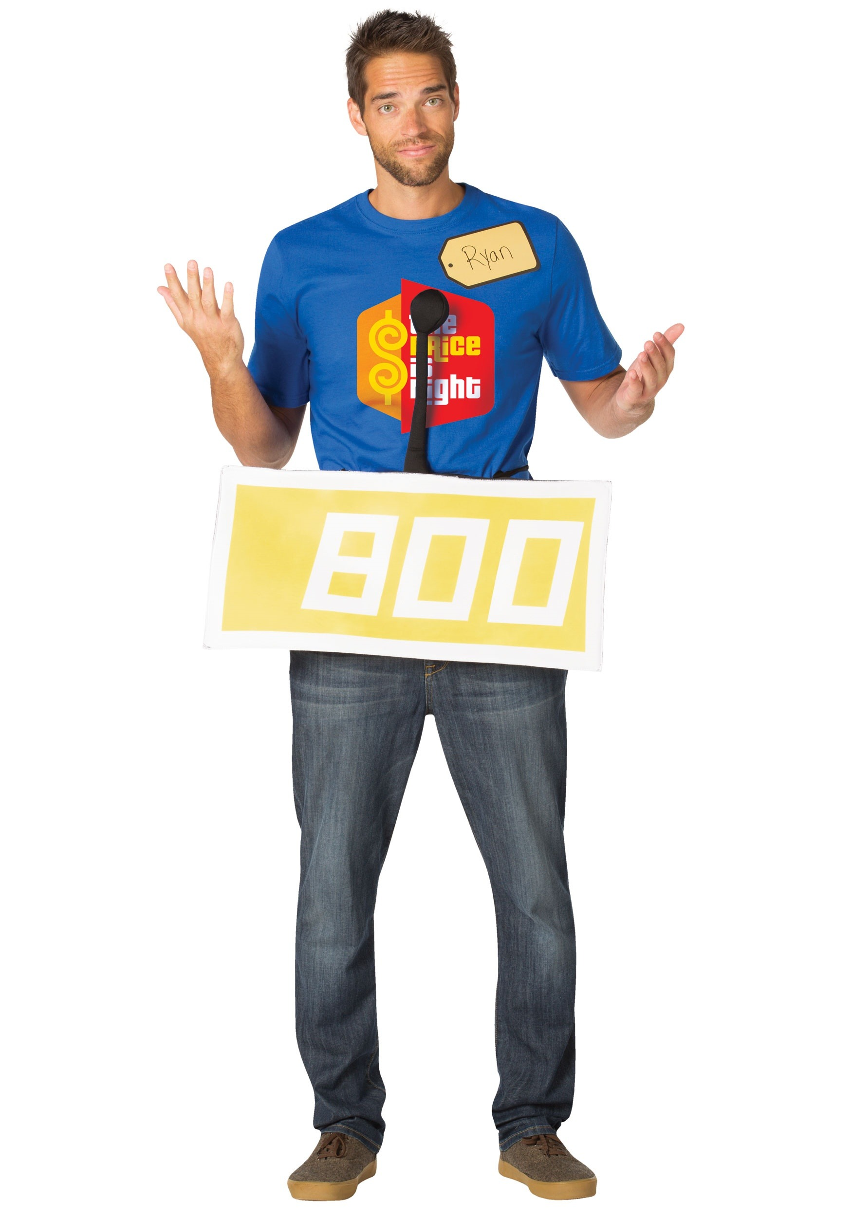 Price is Right Yellow Contestant Adult Costume Kit