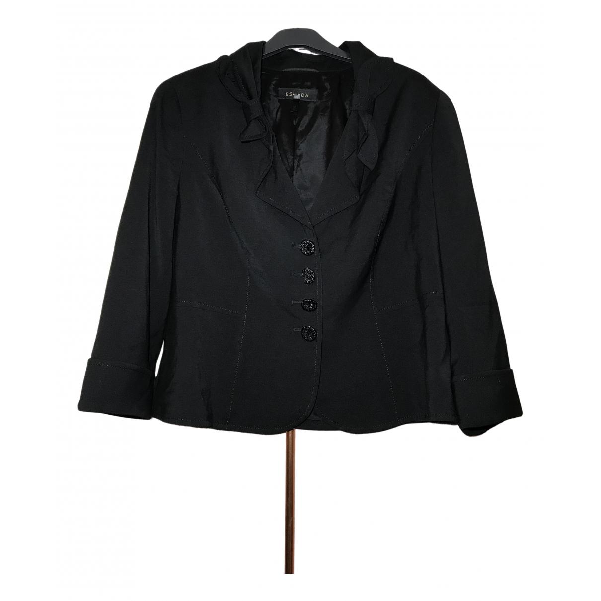 Escada - Veste   pour femme en laine - noir