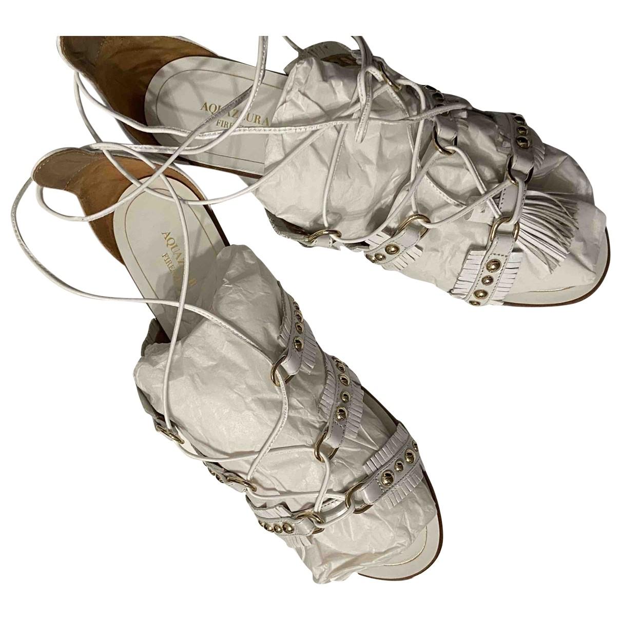 Aquazzura - Sandales   pour femme en cuir - blanc