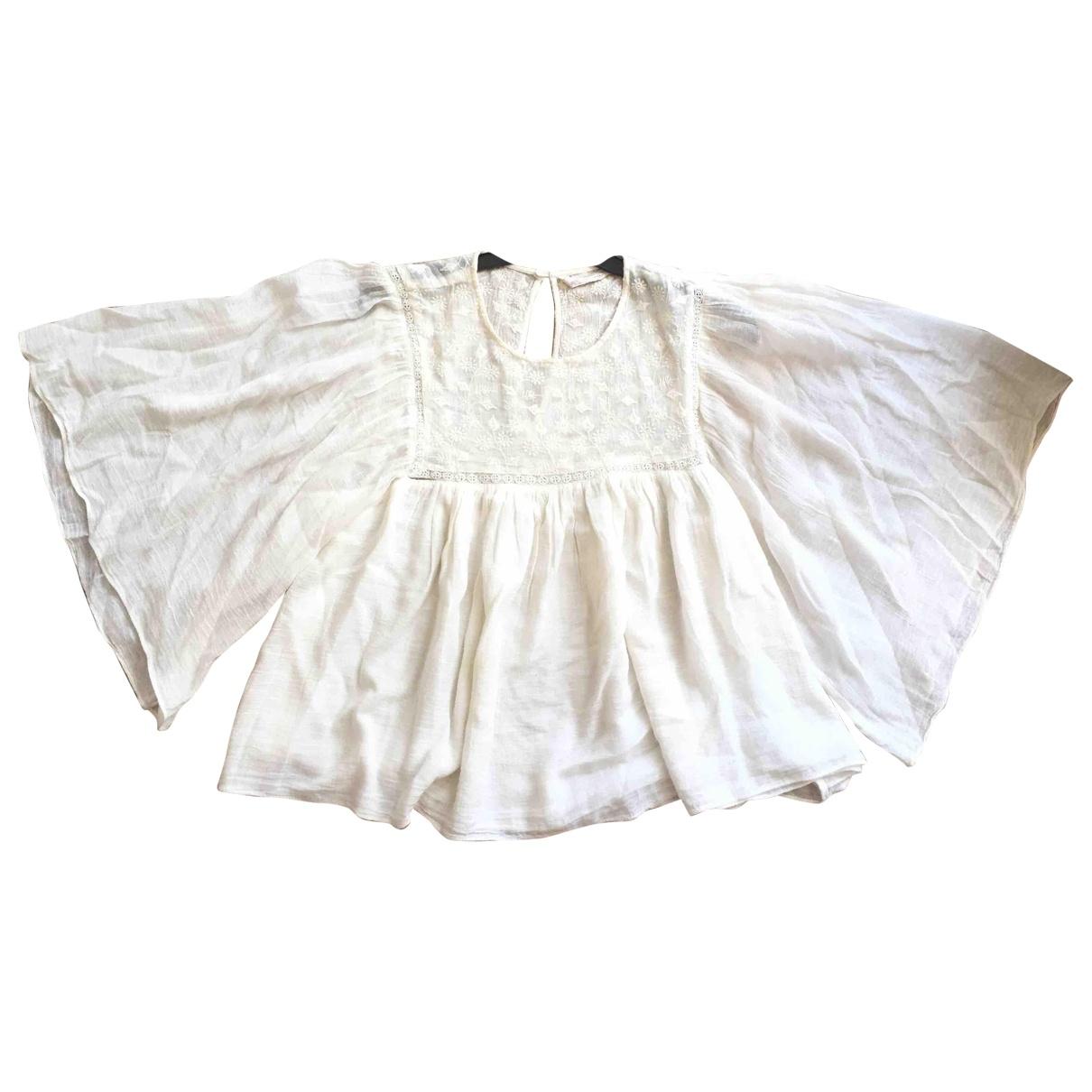 Zara \N Beige Cotton  top for Women 38 FR