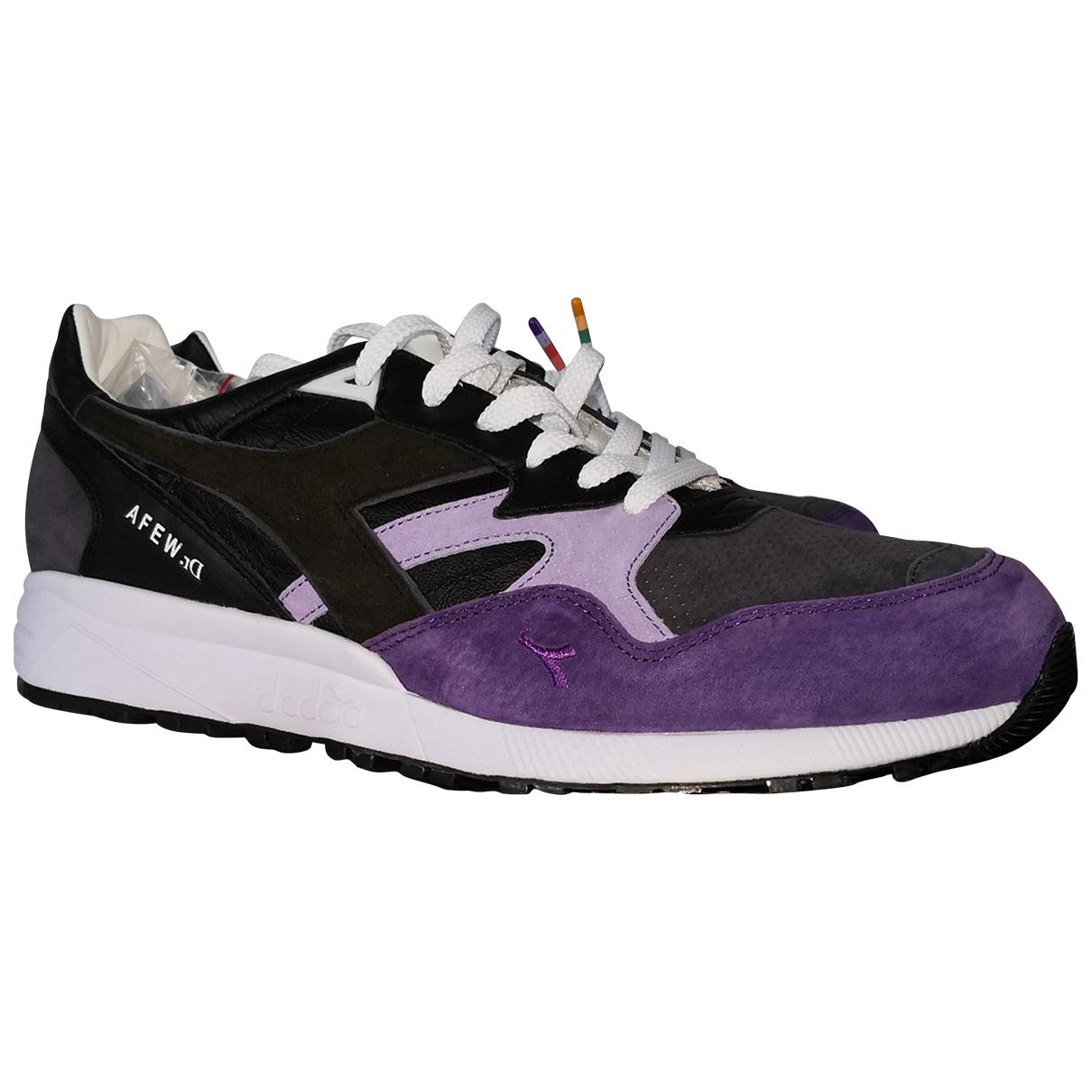 Diadora - Baskets   pour homme en cuir - violet