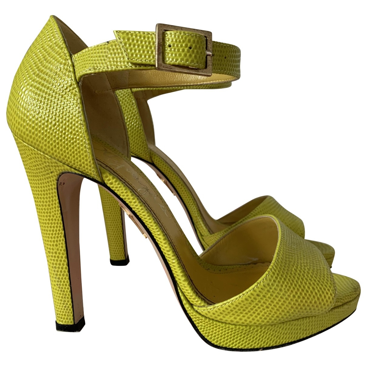 Charlotte Olympia \N Sandalen in  Gelb Leder