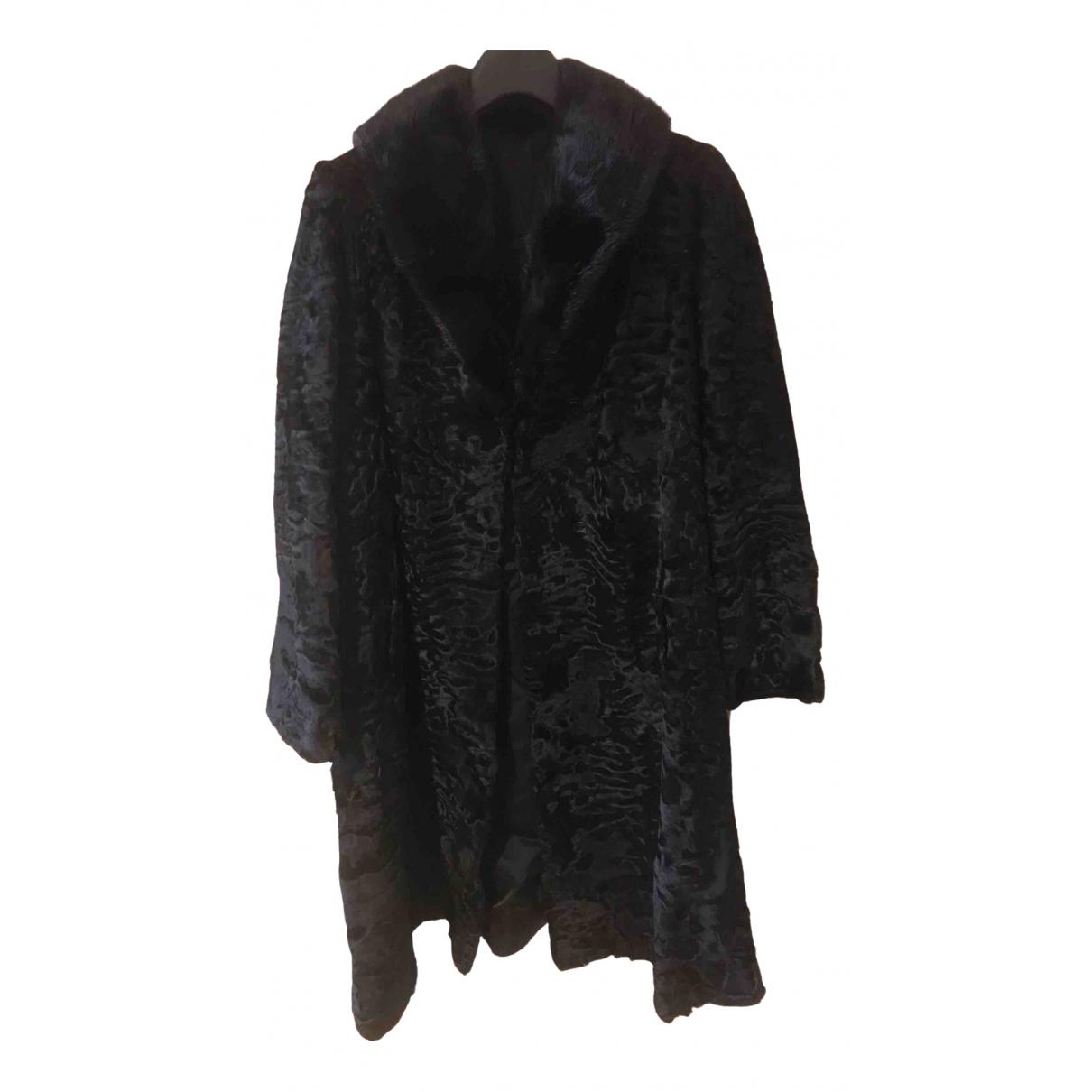 Non Signé / Unsigned \N Black Astrakhan coat for Women L International