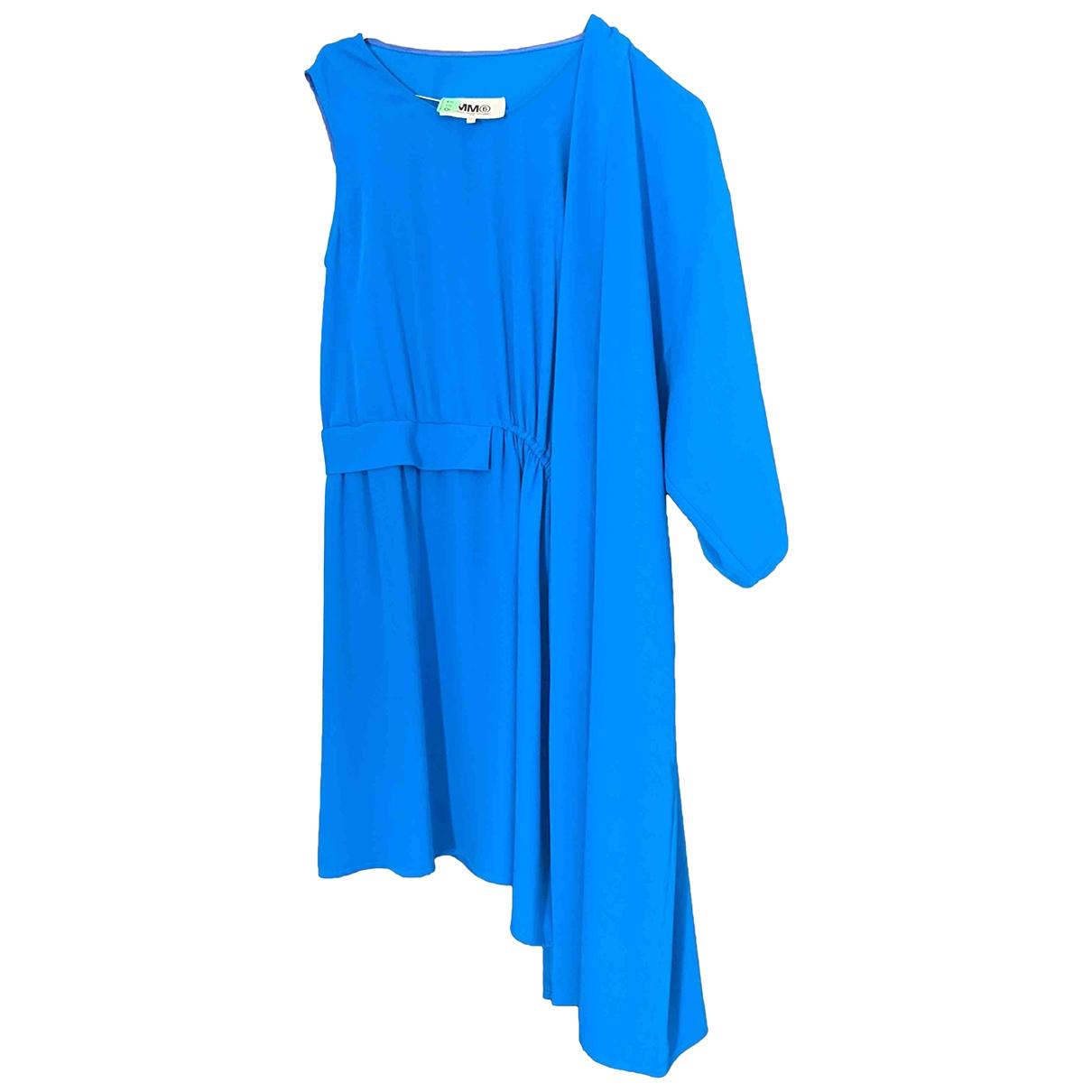 Mm6 \N Kleid in  Blau Polyester