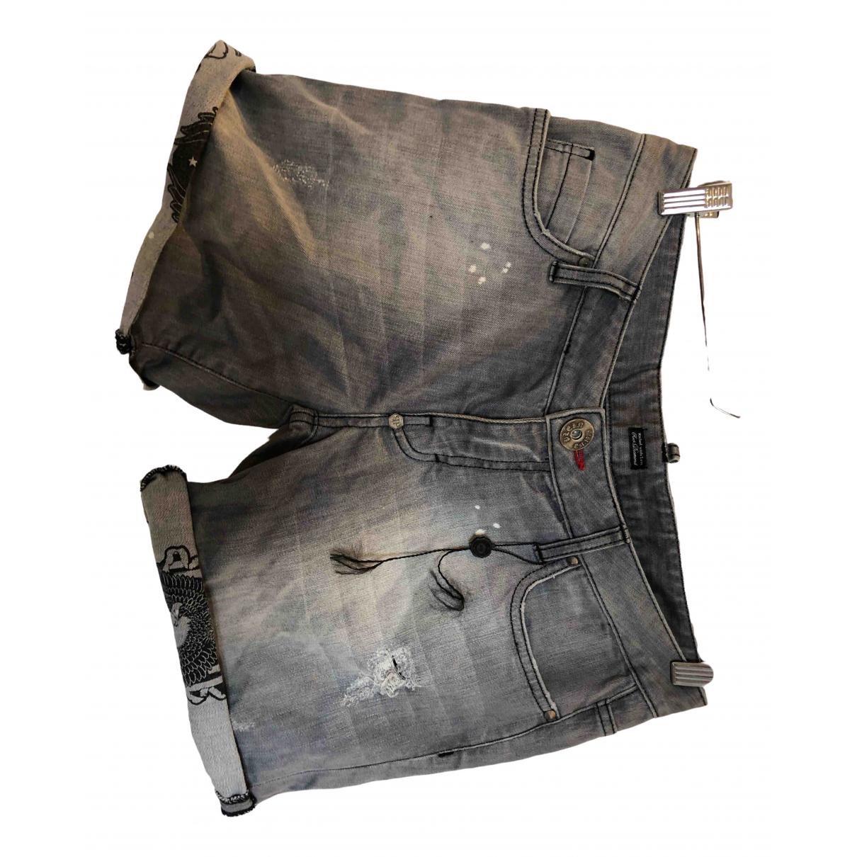 Philipp Plein \N Shorts in  Grau Denim - Jeans
