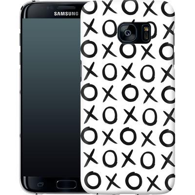 Samsung Galaxy S7 Edge Smartphone Huelle - Love XO White von Amy Sia