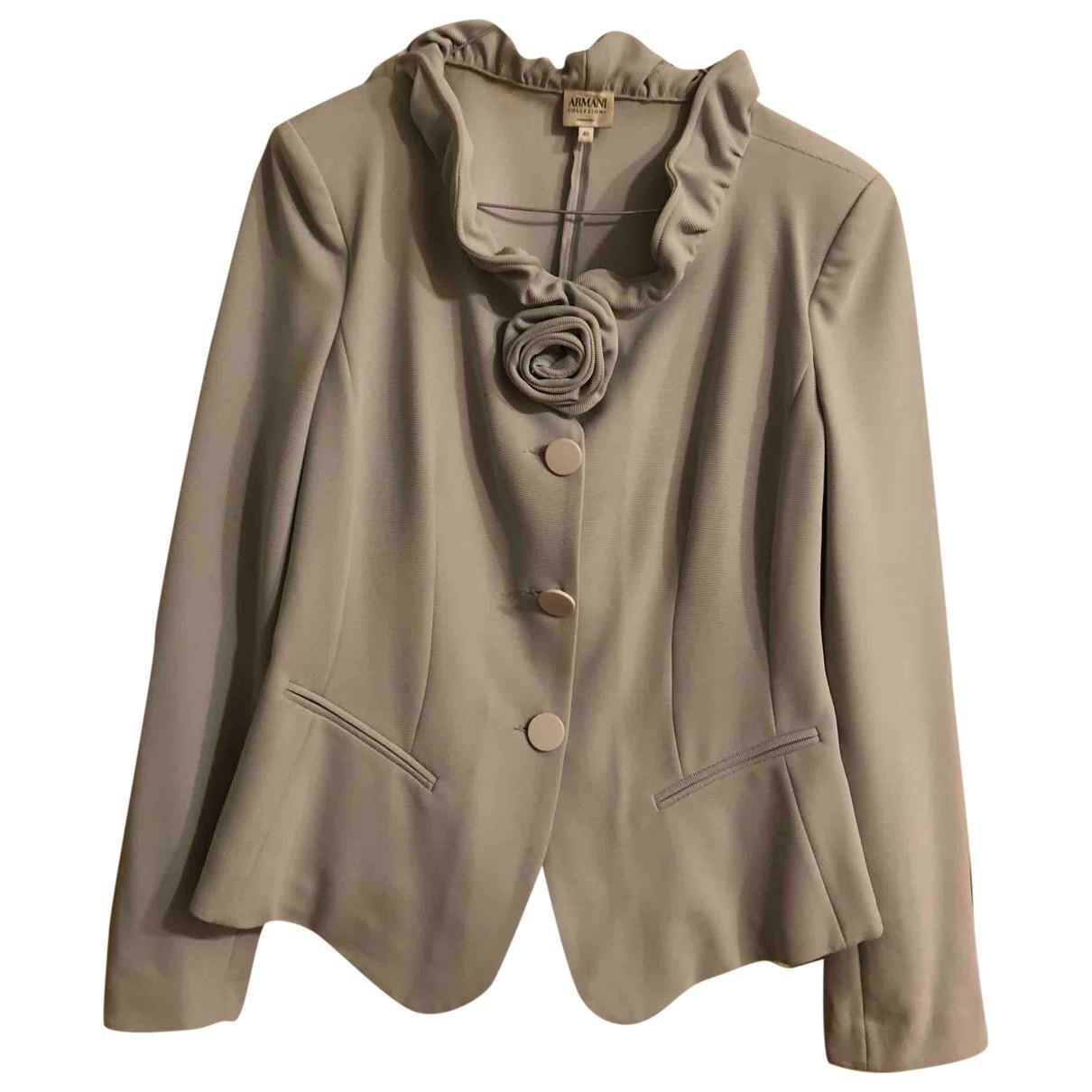 Armani Collezioni - Veste   pour femme en coton - gris