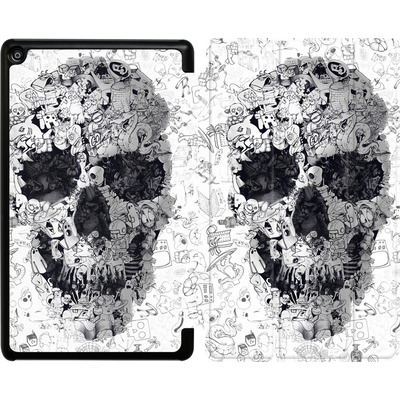 Amazon Fire HD 8 (2017) Tablet Smart Case - Doodle Skull von Ali Gulec