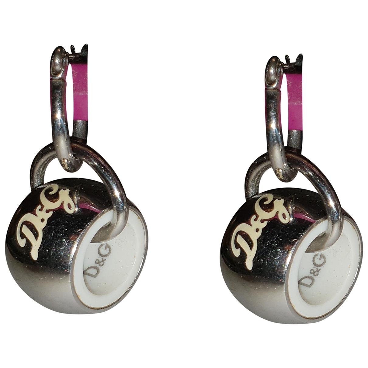 Dolce & Gabbana - Boucles doreilles   pour femme en metal - metallise