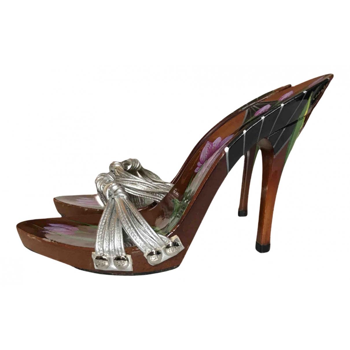 Dior \N Sandalen in  Silber Leder