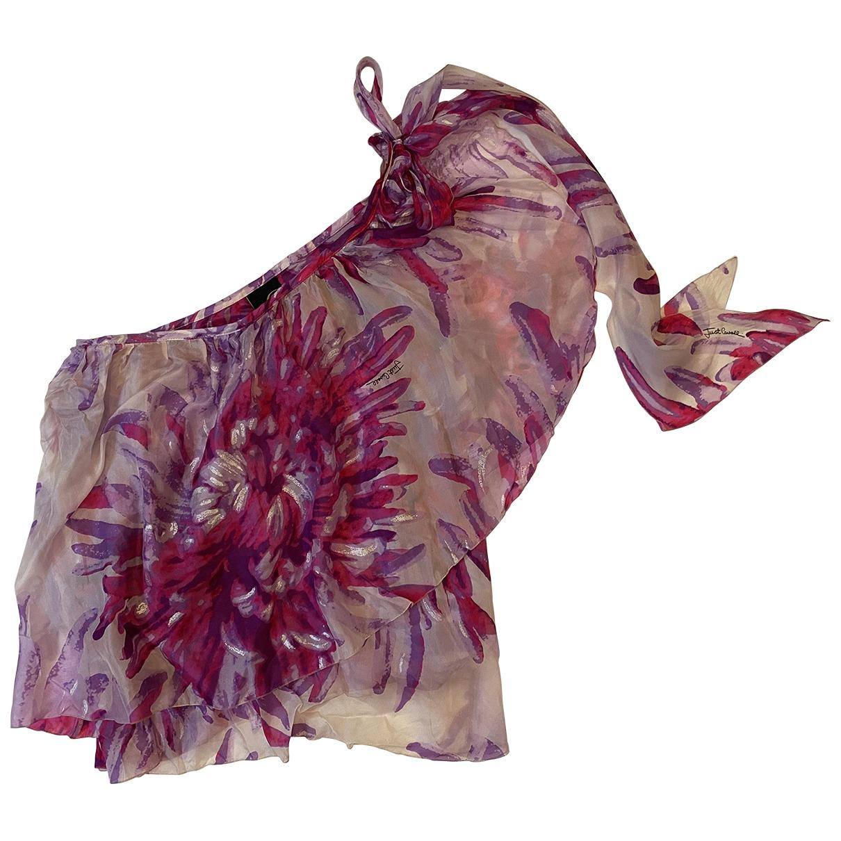 Just Cavalli - Top   pour femme en soie - multicolore