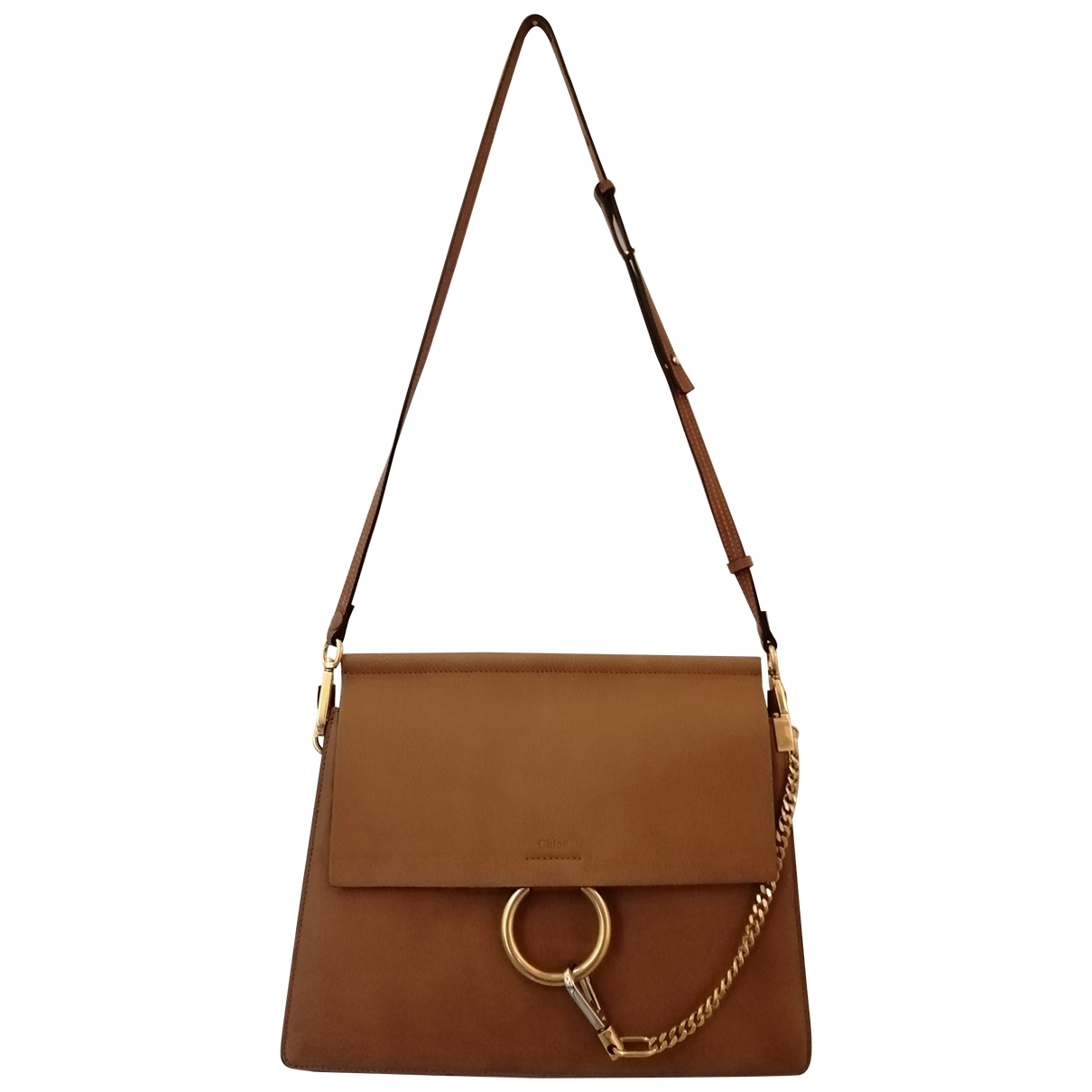 Chloé Faye Camel Leather handbag for Women \N