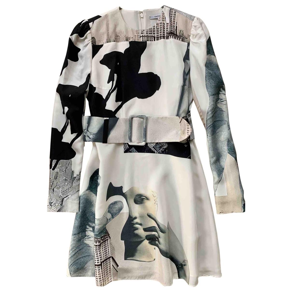 Carven - Robe   pour femme en soie - multicolore