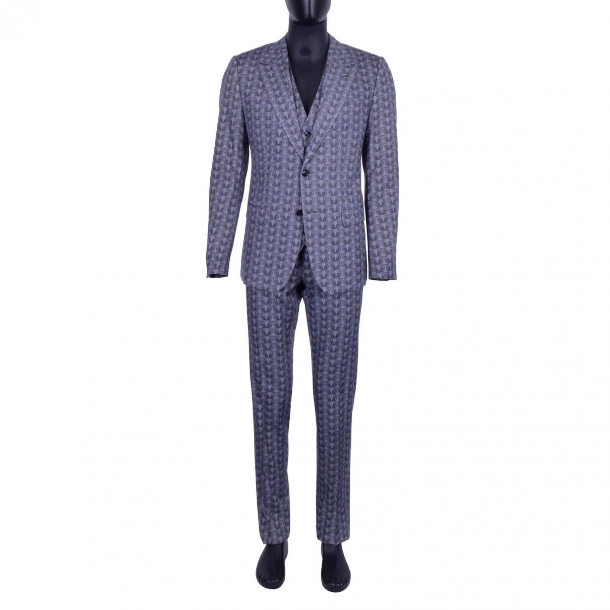 Dolce & Gabbana \N Grey Wool Suits for Men 48 IT