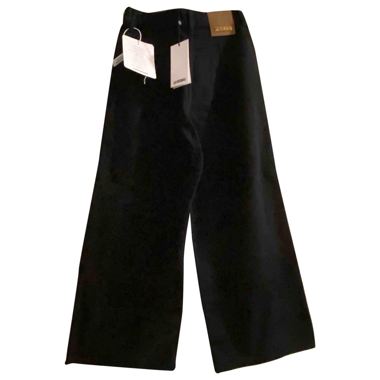 Jacquemus La Riviera Blue Denim - Jeans Trousers for Women 34 FR