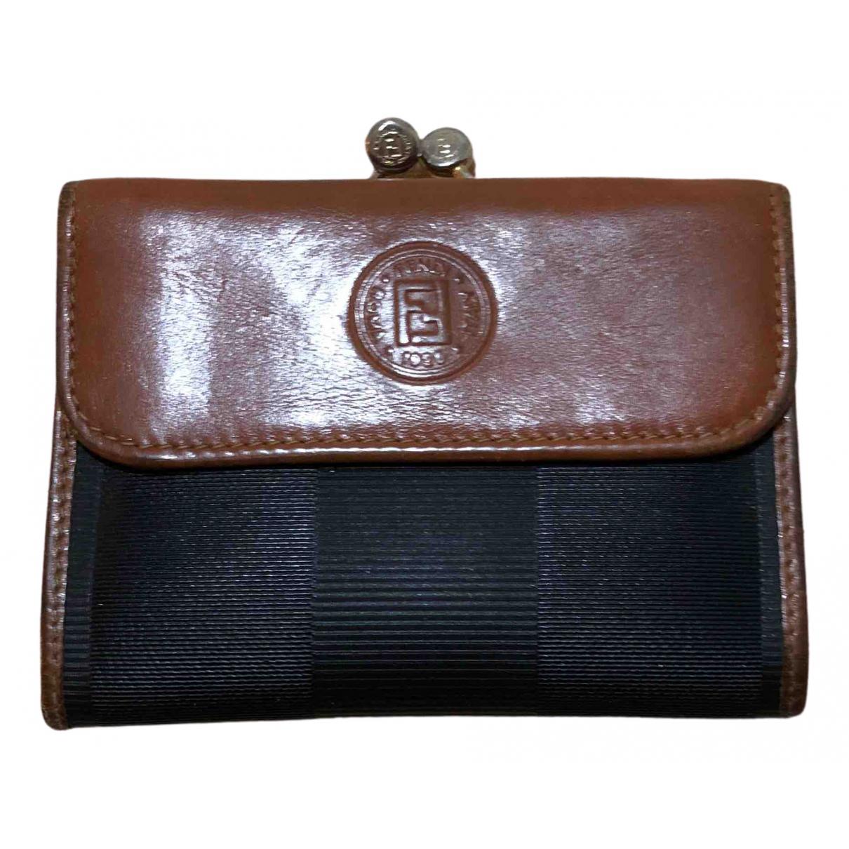 Fendi \N Black Leather Purses, wallet & cases for Women \N