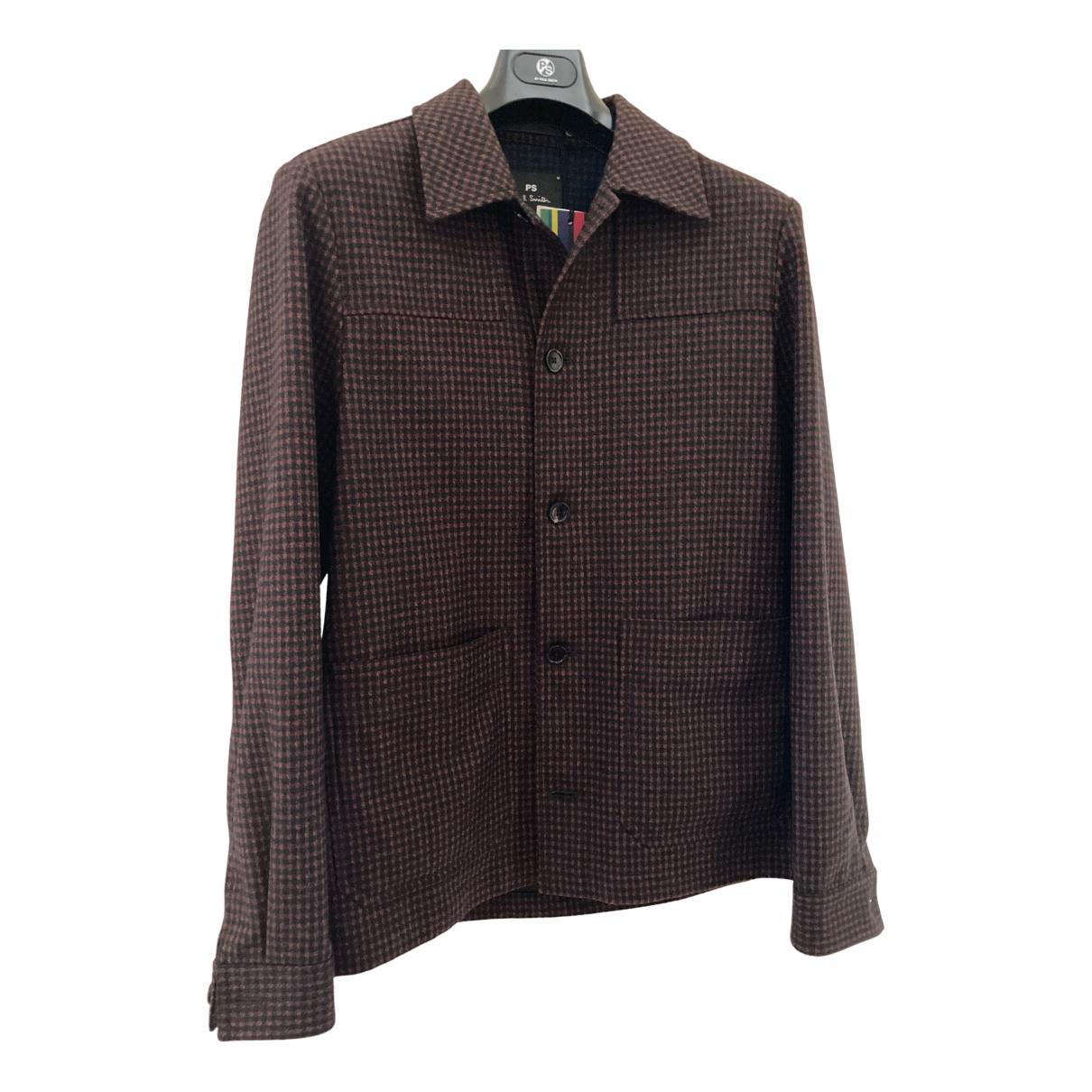 Paul Smith - Vestes.Blousons   pour homme en laine - bordeaux