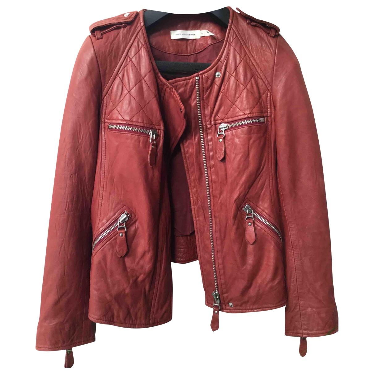 Isabel Marant Etoile \N Lederjacke in  Rot Leder
