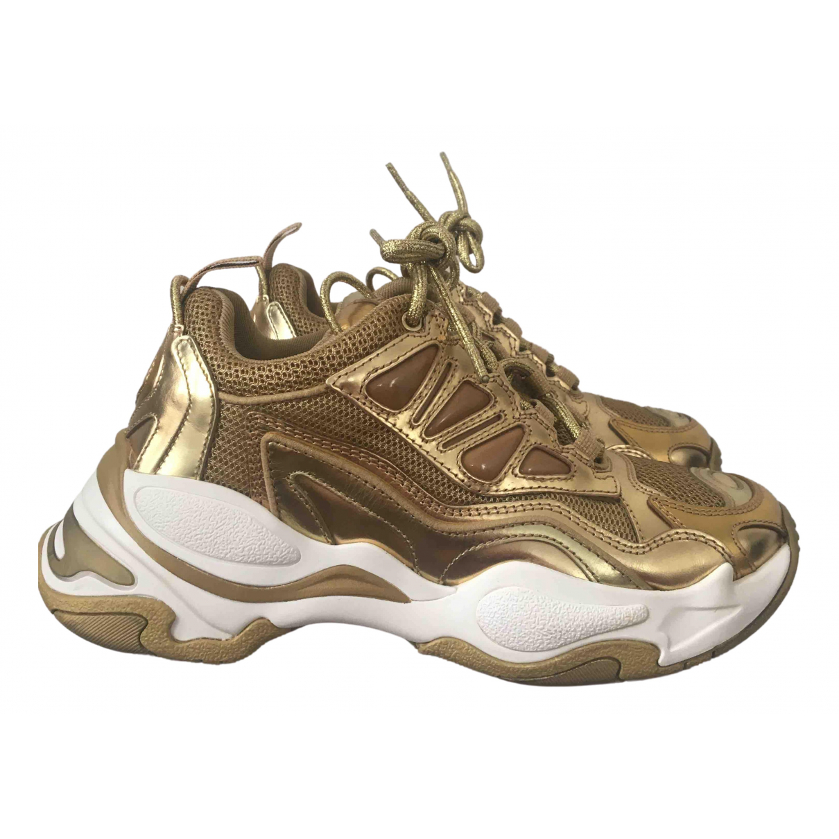 Sandro - Baskets Astro pour femme en cuir - dore