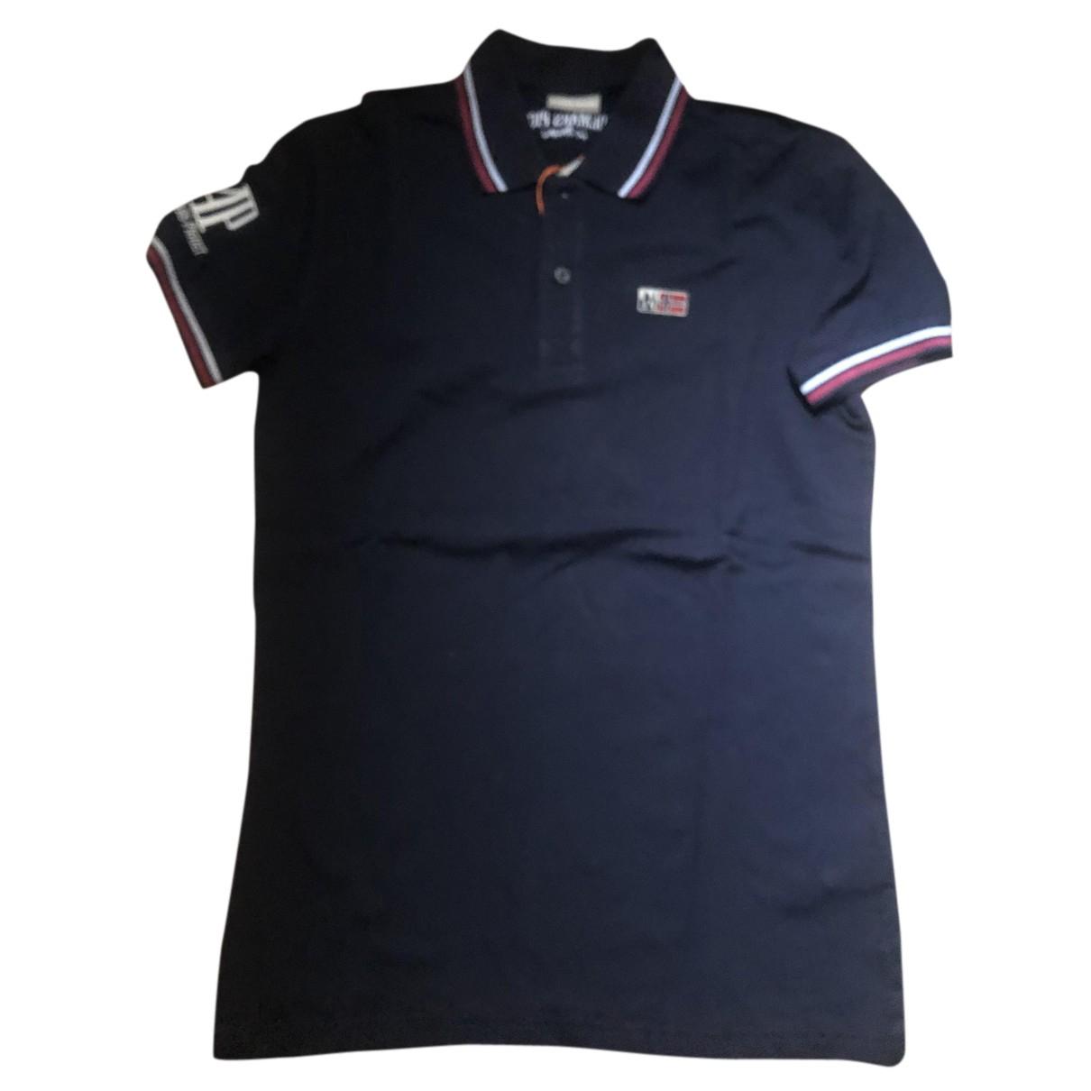 Napapijri - Polos   pour homme en coton - bleu