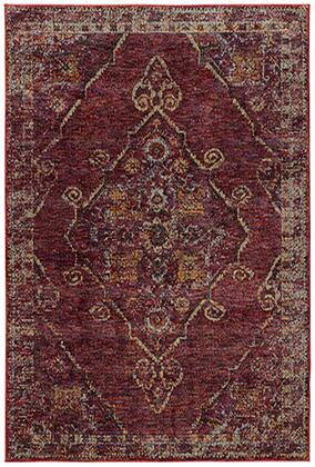 A7135E305400ST 10 0 X 13 2 Rectangle Rug with Oriental Pattern and Nylon/PolyPFiber