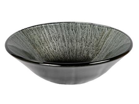 EB_GS36 Silver Streams Black Glass Vessel