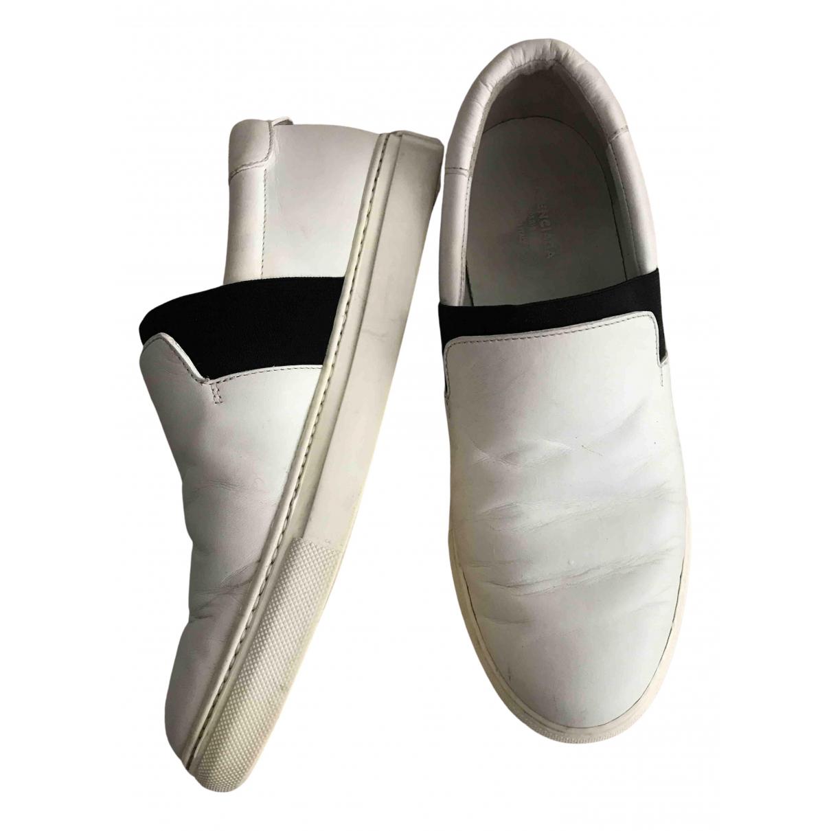 Balenciaga - Baskets   pour femme en cuir - blanc