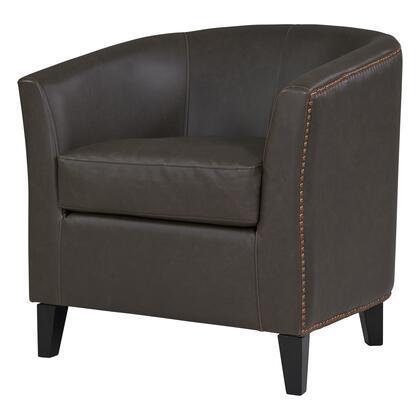 353021B-V01-B Orson Bonded Leather Tub Chair  in Vintage Dark