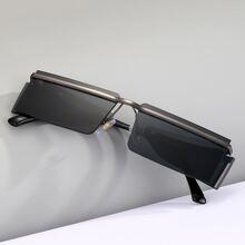 Maenner Sonnenbrille mit rechteckigem Rahmen