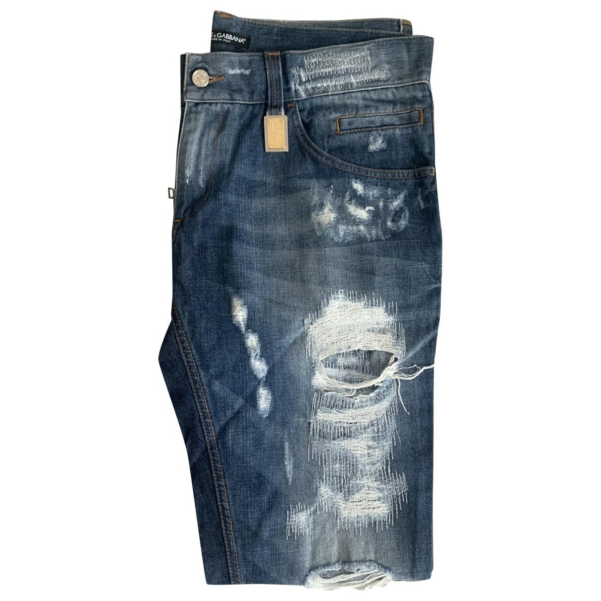 Dolce & Gabbana \N Blue Cotton Jeans for Men 52 IT