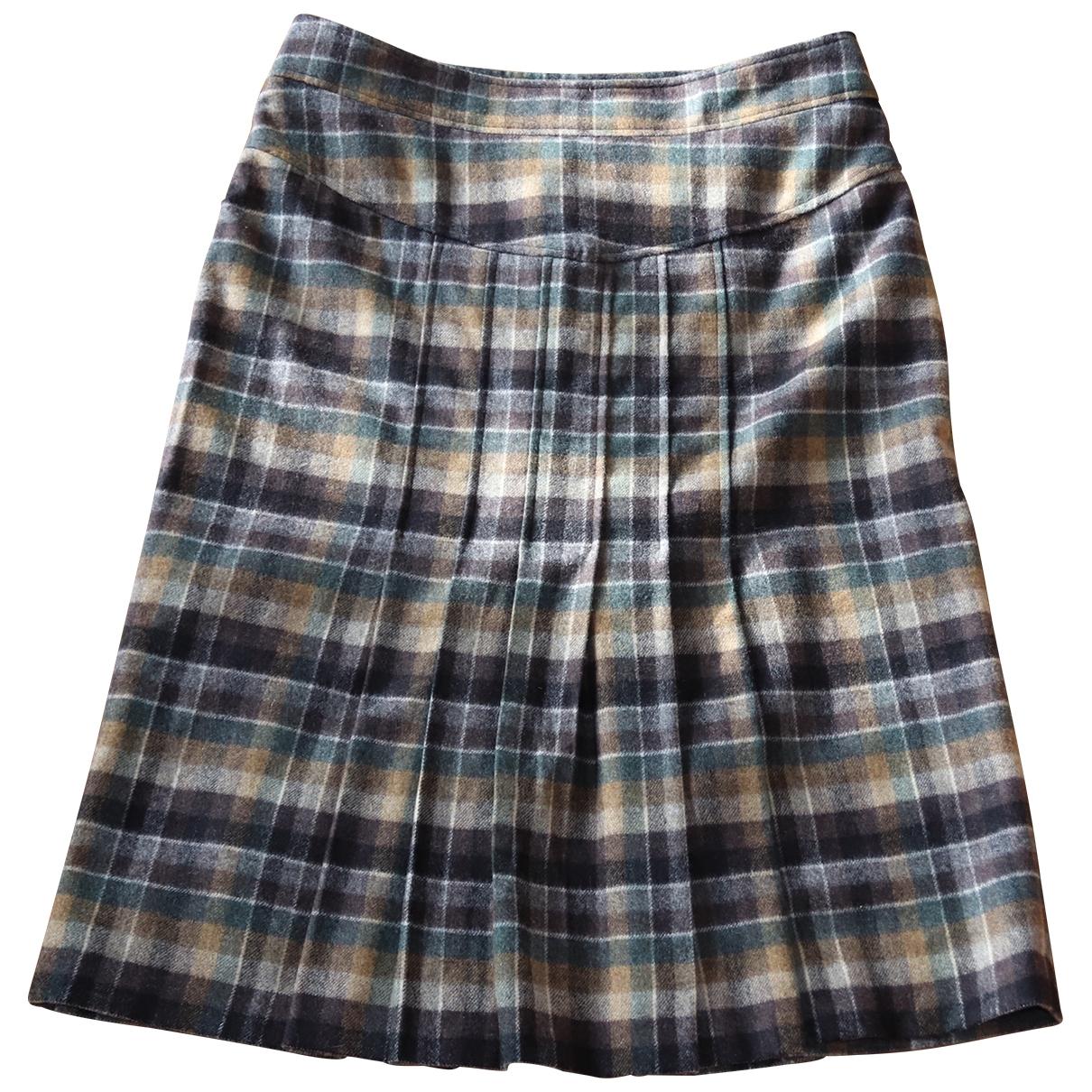 Diane Von Furstenberg \N Brown Wool skirt for Women 8 US