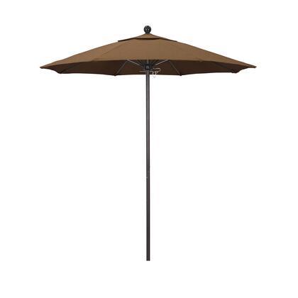 ALTO758117-5488 7.5' Venture Series Commercial Patio Umbrella With Bronze Aluminum Pole Fiberglass Ribs Push Lift With Sunbrella 1A Teak