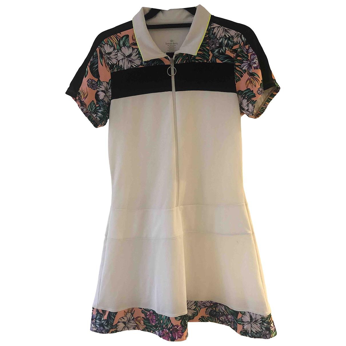 Sweaty Betty \N Kleid in  Weiss Polyester