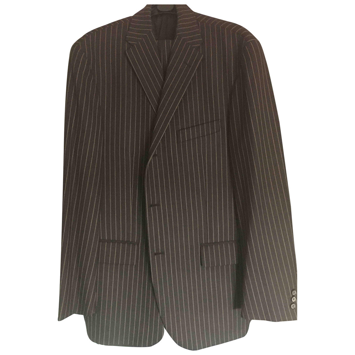 Corneliani N Anthracite Wool Suits for Men 52 IT