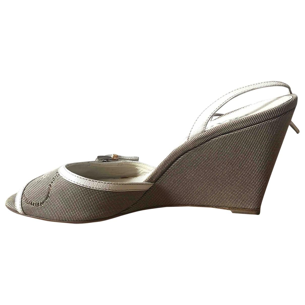 Prada \N Beige Cloth Sandals for Women 39 EU