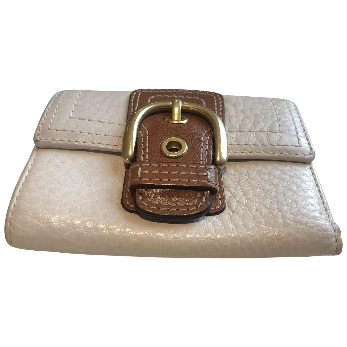 Coach - Portefeuille   pour femme en cuir - blanc