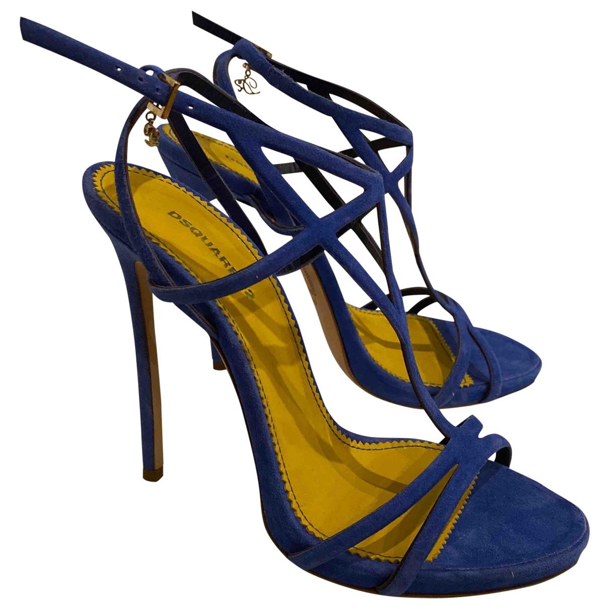 Dsquared2 - Escarpins   pour femme en suede - bleu