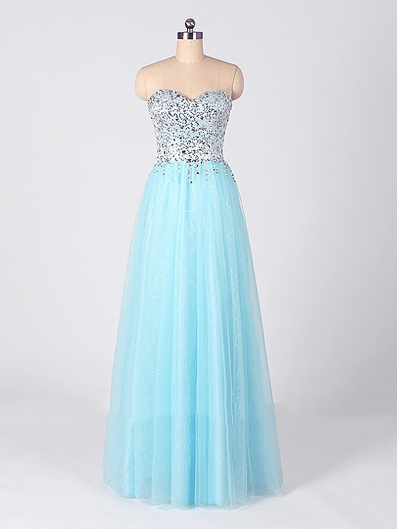 Ericdress Charming Sweetheart A-Line Beading Plus Size Long Prom Dress