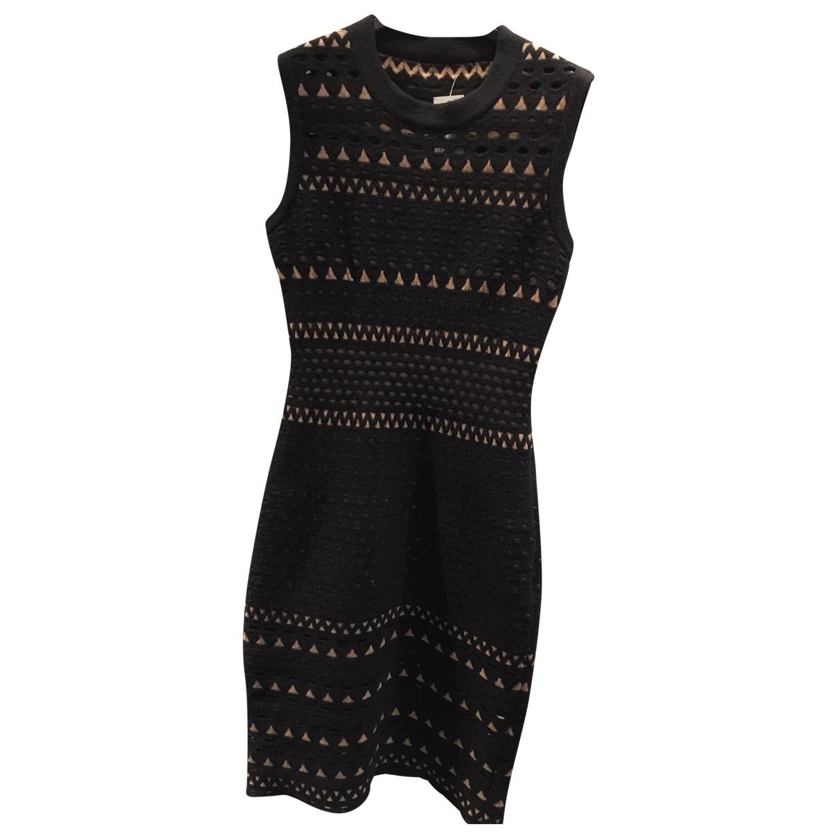 Alaia \N Kleid in  Schwarz Wolle