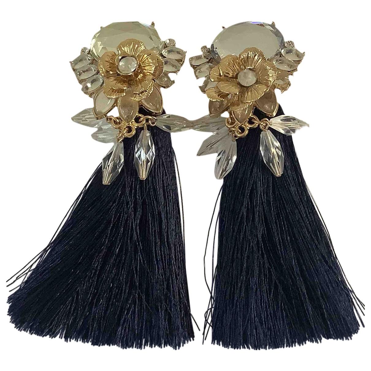 - Boucles doreilles Art Deco pour femme en acier - bleu