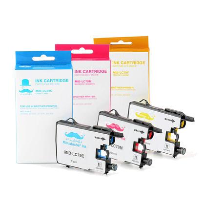 Brother LC79 3PKS cartouche d'encre compatible couleur combo extra haute capacité C/M/Y - Moustache®